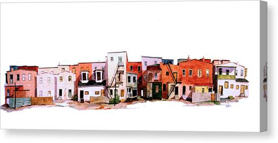 Behind Fourth Street Canvas Print by William Renzulli