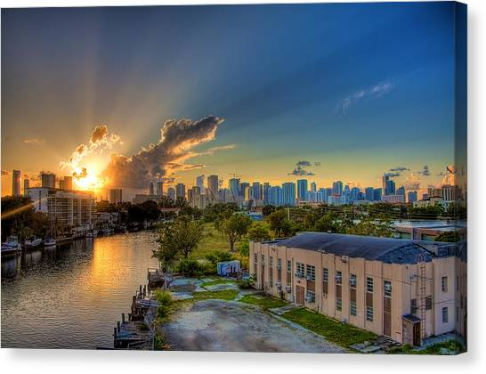 Behind Miami Canvas Print