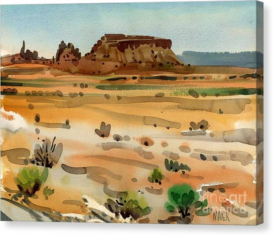 Behind Shiprock Canvas Print by Donald Maier
