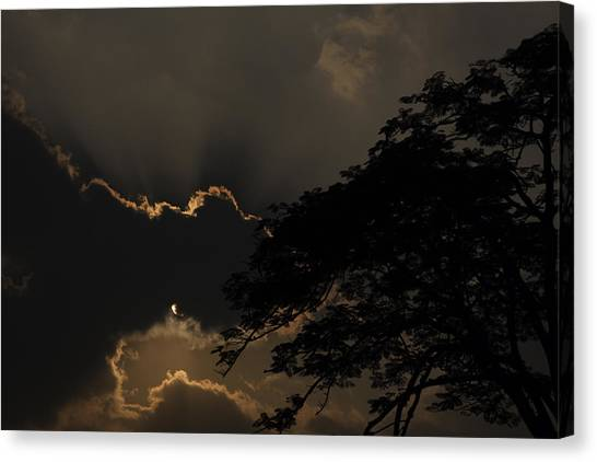 Behind The Cloud Canvas Print