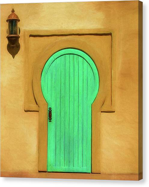 Behind Closed Doors Canvas Print - Behind The Green Door by Mitch Spence & Behind Closed Doors Canvas Prints | Fine Art America