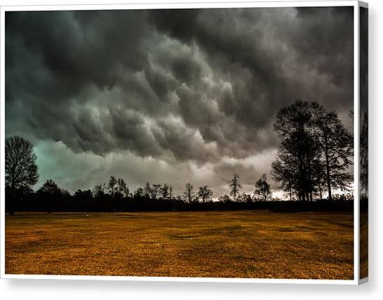Behind The Tornado Canvas Print