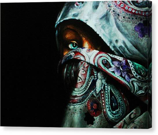 Behind The Veil Canvas Print by Richard Klingbeil