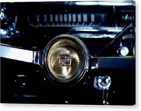 Behind The Wheel Canvas Print