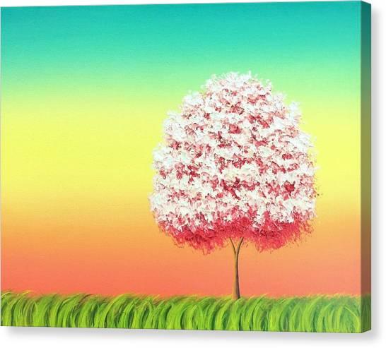 Blooming Tree Canvas Print - Beholden To The Skies by Rachel Bingaman