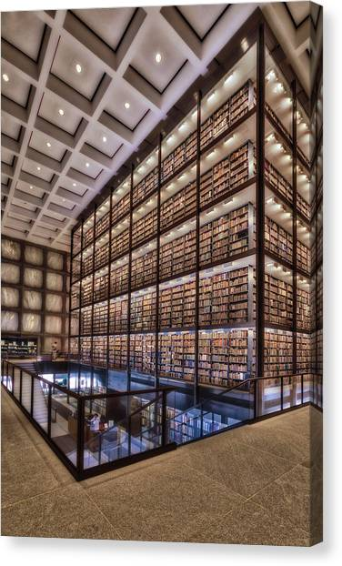 Beinecke Rare Book And Manuscript Library Canvas Print