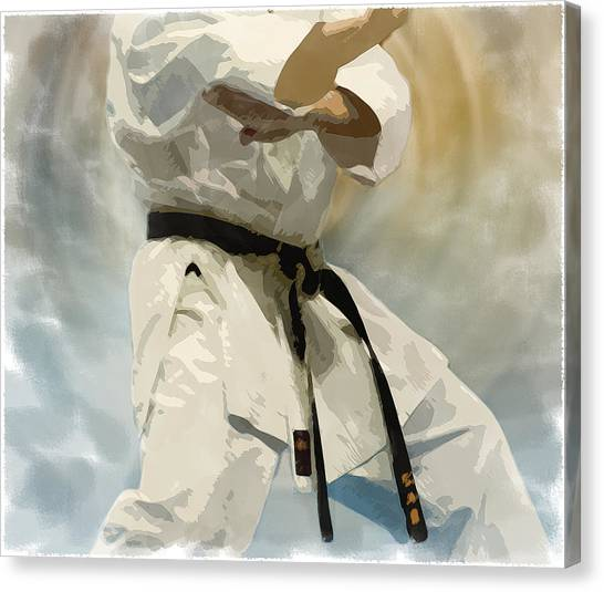 Karate Canvas Print - Being A Black Belt by Deborah Lee