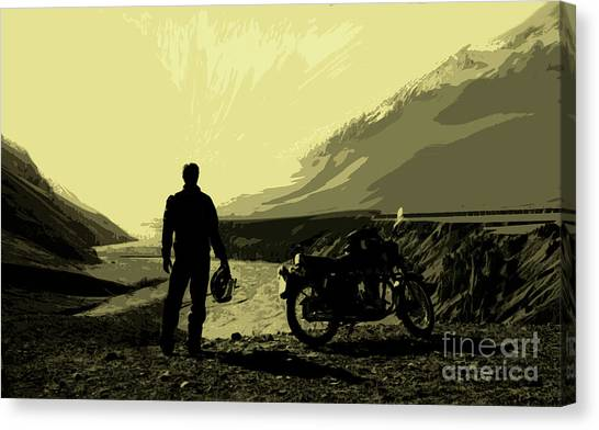 Being In The Movie II Canvas Print