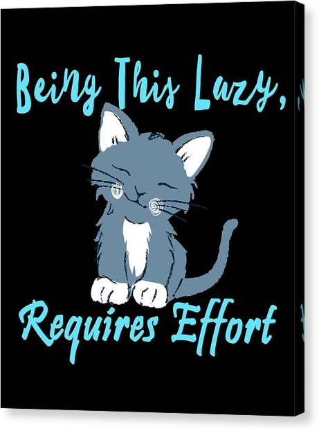 Ocicats Canvas Print - Being This Lazy Requires Effort Cat by Kaylin Watchorn