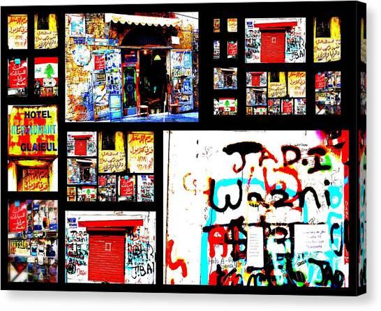 Beirut Colorful Walls  Canvas Print