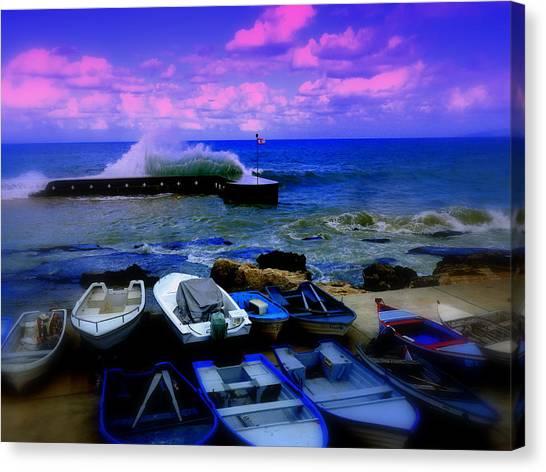 Beirut Seaside Waves Canvas Print