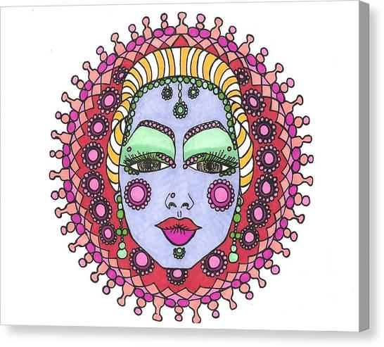 Bejeweled Blond Canvas Print