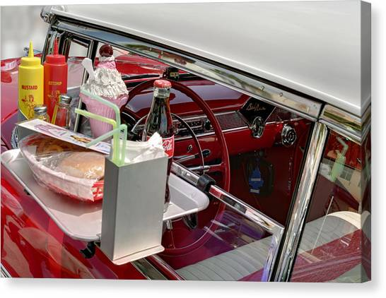 Bel Air 1956. Miami Canvas Print