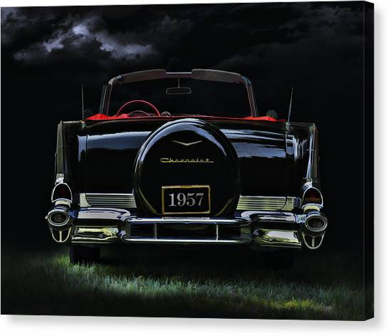 Chrome Canvas Print - Bel Air Nights by Douglas Pittman