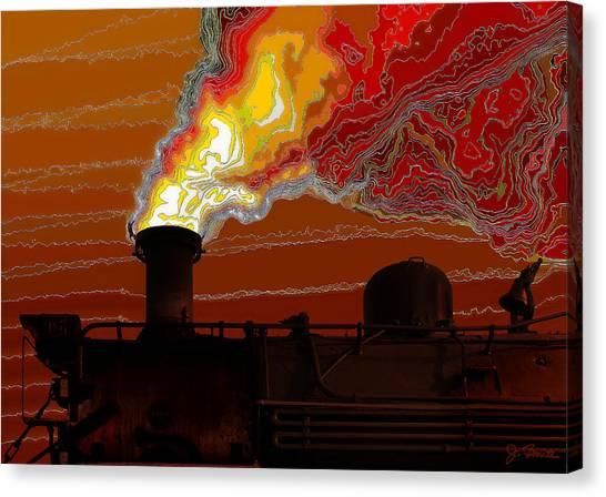 Belching Fire Canvas Print by Joe Bonita