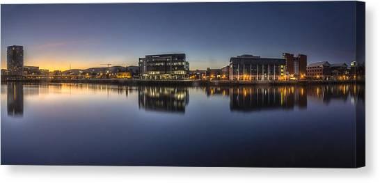 Belfast Near The Docks Canvas Print