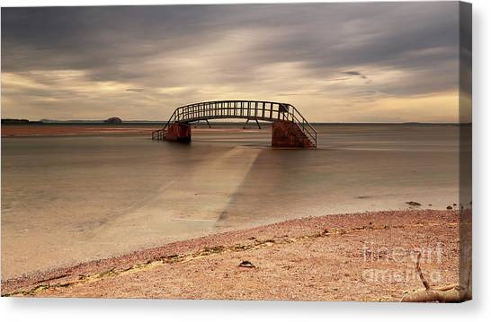 Belhaven Stairs And The Bass Canvas Print
