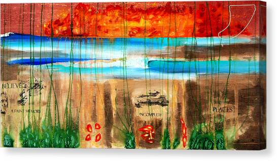 Believe A Faint Memory Incomplete Places Canvas Print by Nathan Paul Gibbs