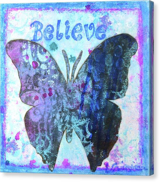 Believe Butterfly Canvas Print