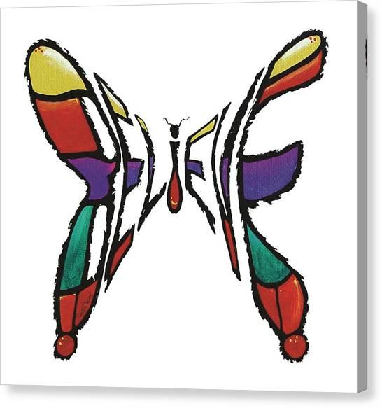 Believe-butterfly Canvas Print