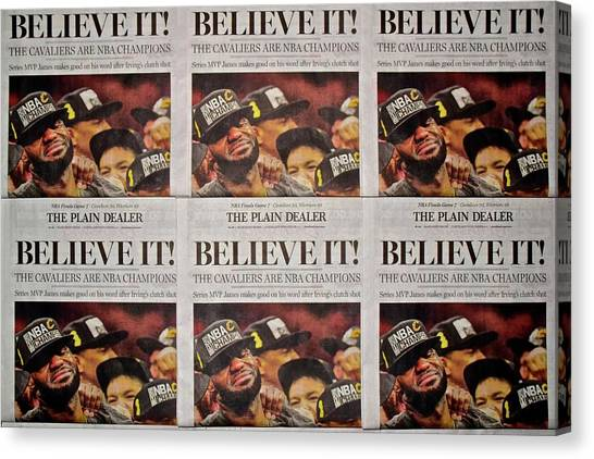 Kyrie Irving Canvas Print - Believe It by Frozen in Time Fine Art Photography