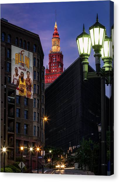 Kyrie Irving Canvas Print - Believeland by Dale Kincaid