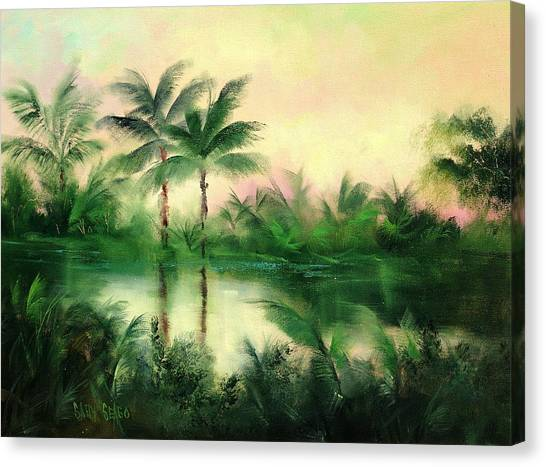 Belize River Canvas Print by Sally Seago