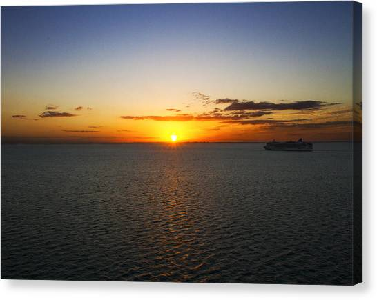 Belize Sunset Canvas Print