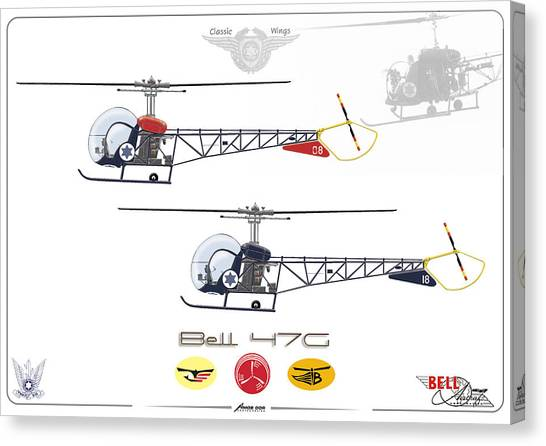 Bell 47g Canvas Print