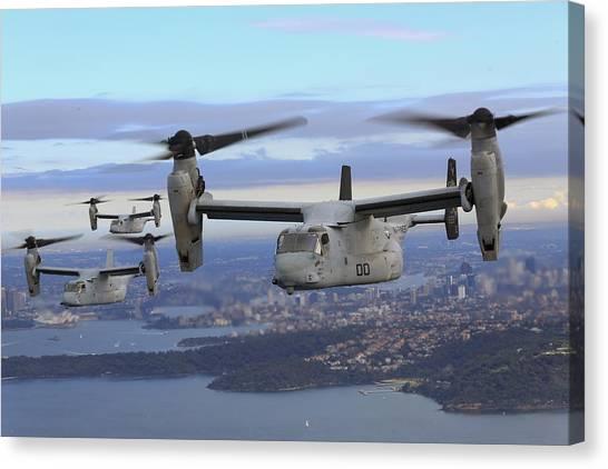 Osprey Canvas Print - Bell Boeing V-22 Osprey by Super Lovely