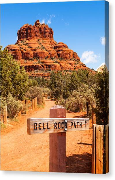 Bell Rock Path In Sedona Arizona Canvas Print by Susan Schmitz