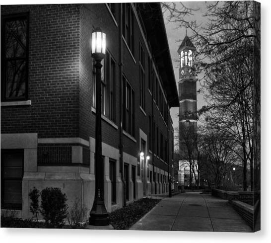 Purdue University Canvas Print - Bell Tower At Night by Coby Cooper
