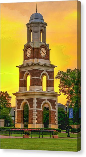 Bell Tower At Christopher Newport University C N U Canvas Print