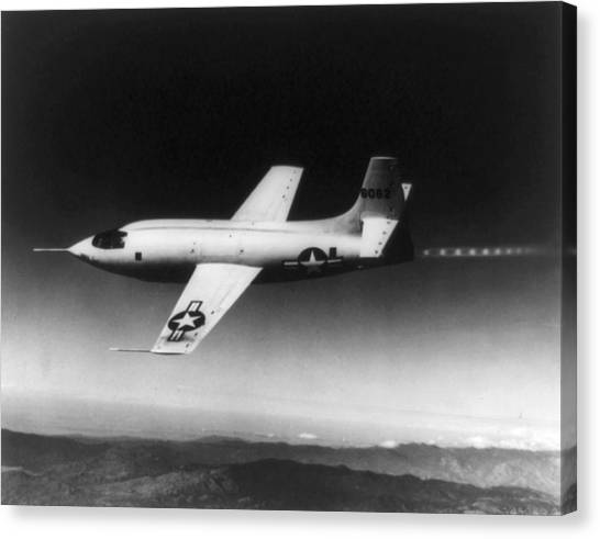 Rocket Canvas Print - Bell X-1 Rocket Plane In Which Chuck by Everett