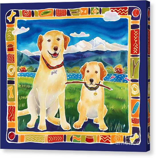 Bella And Bruno's Fine Day Canvas Print by Harriet Peck Taylor