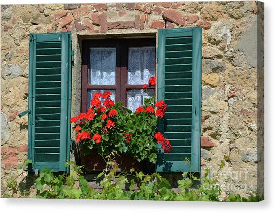 Bella Italian Window  Canvas Print