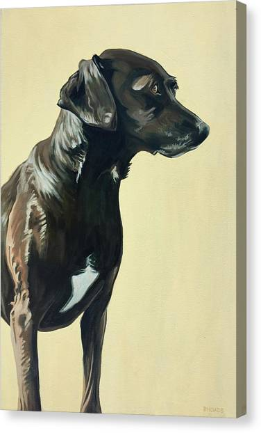 Canvas Print featuring the painting Bella by Nathan Rhoads