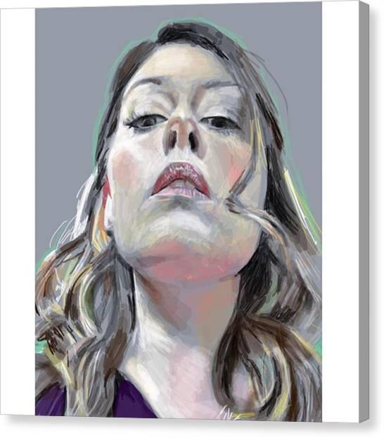 Realism Art Canvas Print - Bellaboop #drawings4donations by James Garza