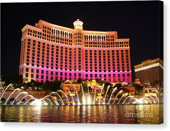 Bellagio At Night Canvas Print