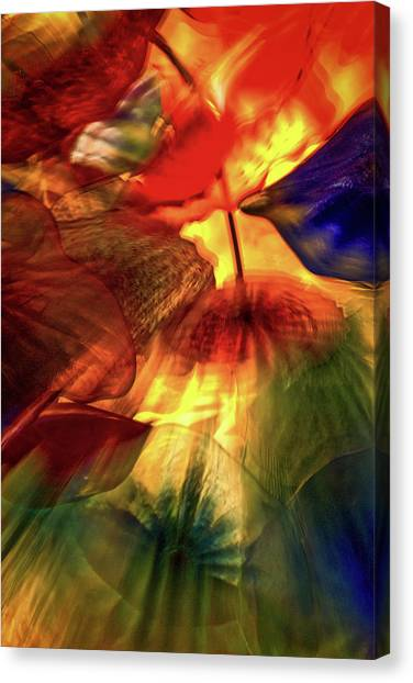 Bellagio Ceiling Sculpture Abstract Canvas Print
