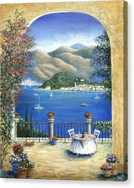 Table Mountain Canvas Print - Bellagio Lake Como From The Terrace by Marilyn Dunlap