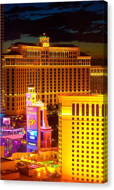 Bellagio  Planet Hollywood  Canvas Print by James Marvin Phelps