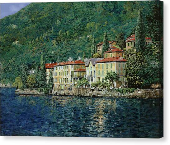 Oil Canvas Print - Bellano On Lake Como by Guido Borelli