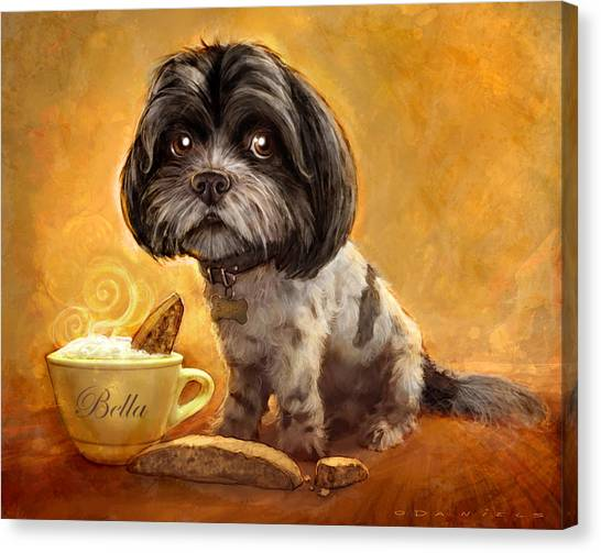 Portraits Canvas Print - Bella's Biscotti by Sean ODaniels