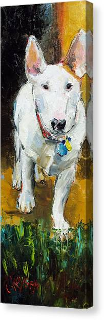English Bull Dogs Canvas Print - Belle by Claire Kayser