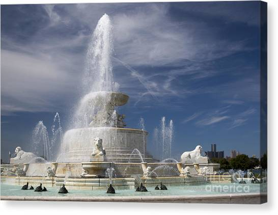 Belle Isle Scott Fountain Canvas Print