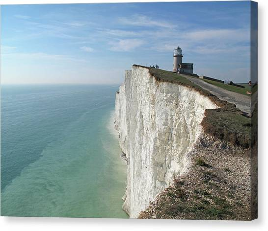 Lighthouse Canvas Print - Belle Tout Lighthouse, East Sussex. by Philippe Cohat