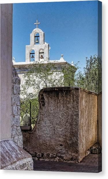 Father Kino Canvas Print - Bells Of San Xavier - Tucson Arizona by Jon Berghoff