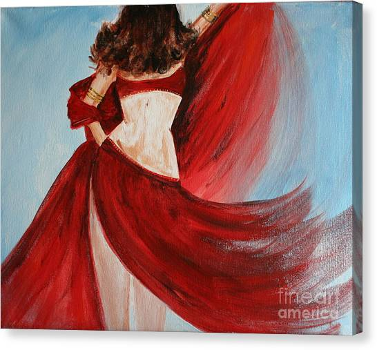 Belly Dancer Canvas Print by Julie Lueders