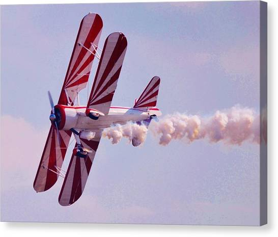 Belly Of A Biplane Canvas Print